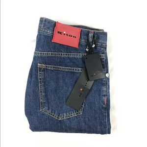 Kiton Dark Wash 35x35 NWT Mens Jeans